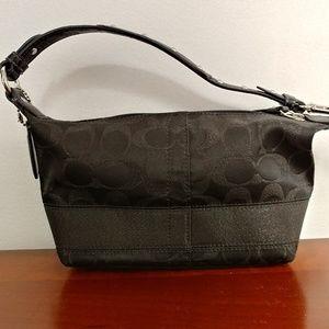 Coach black signature mini bag